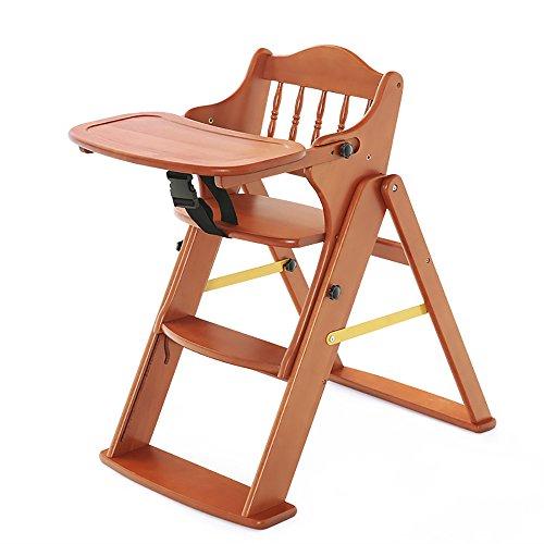 LJHA Tabouret pliable Tabouret réglable en bois solide de bébé/enfants dinant des chaises/tabouret se pliant multifonctionnel (3 couleurs facultatives) chaise patchwork (Couleur : Noyer Couleur)