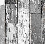 Klebefolie Holzdekor- Möbelfolie Holz Scrapwood grau dunkel - 67 cm x 200 cm Selbstklebefolie Dekorfolie