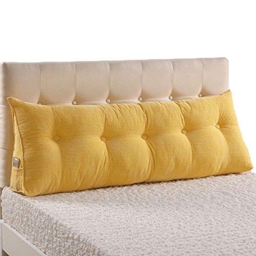 Preisvergleich Produktbild ANDEa Bedside Sofa Kissen Lendenwirbel Kissen Soft Case Taille Pad Rückenlehne Bett Stoff Kissen Core Waschbare Taille Kissen schützen den Hals Originality ( Farbe : #2 , größe : 100*22*50CM )