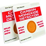 Carbon Monoxide CO Detector 2 Pack Gas Protector Card Home Work Health & Safety (190)