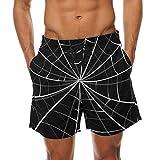 COOSUN Spinnen-Netz-Strand Board Shorts Quick Dry Badehose Mittel mehrfarbig