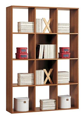 Mobile libreria - divisorio a giorno cm L110 - Noce
