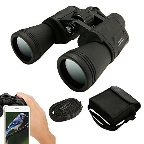 10 x 50 Fernglas,SGODDE Binocular Ferngläser Vergrößerung,wasserdicht Zoom Ultra HD FMC für Vogelbeobachtung Landschaftsbeobachtung Fußball Jagd,mit Tragetasche Gurt Sauberes Tuch