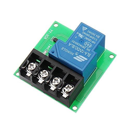 ILS - 3 Stücke 1CH 12V 30A Relaismodul High Power Relay Control Board Einzelne Schalte