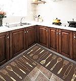 ZENGAI Alfombras Almohadilla Impermeable Antideslizante Para El Hogar Sala De Estar Cocina Alfombrilla De Cabecera De Dormitorio ( Color : B , Tamaño : 45*180cm )