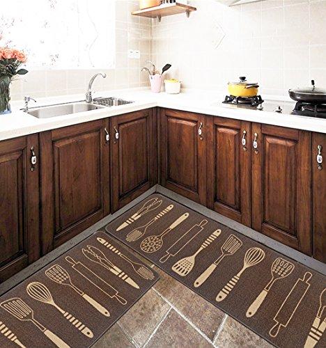 Alfombras Almohadilla impermeable antideslizante para el hogar, sala de estar, cocina, alfombrilla de cabecera de dormitorio ( Color : B , Tamaño : 45*180cm )