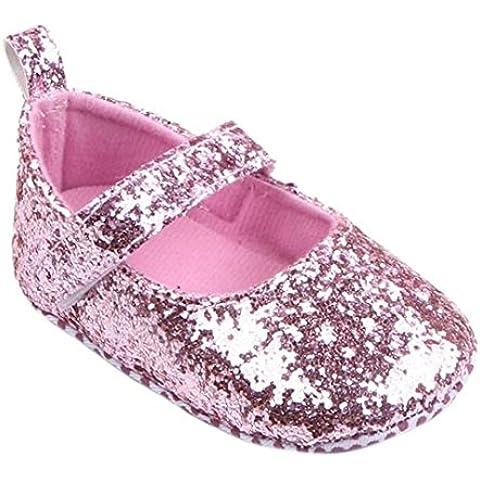 ZARU lentejuelas Niño de la muchacha suavemente único cuna zapatilla de deporte Zapatos de punto de★ 0 a 1 años★ bebé primer paso X-2