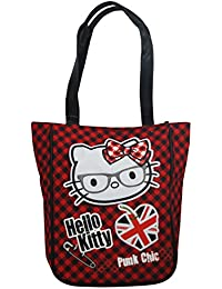 Hello Kitty Vichy Sac porté main pour Femme Sac à l'épaule Shopper