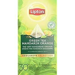 Lipton Grüner Tee Mandarine Orange Pyramidbeutel, 1er Pack (1 x 117 g)