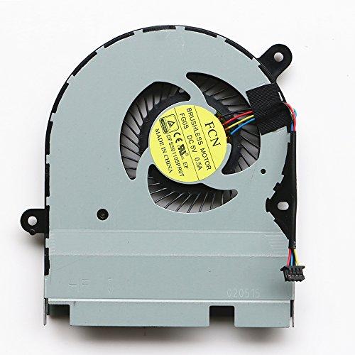 DXCCC - Ventola di Raffreddamento di Ricambio per PC Portatili ASUS TP300 TP300L TP300LD TP300LJ TP300LN CPU Ventola di Raffreddamento