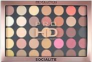 Makeup Revolution Pro HD Amplified 35 Palette, Socialite, 30g