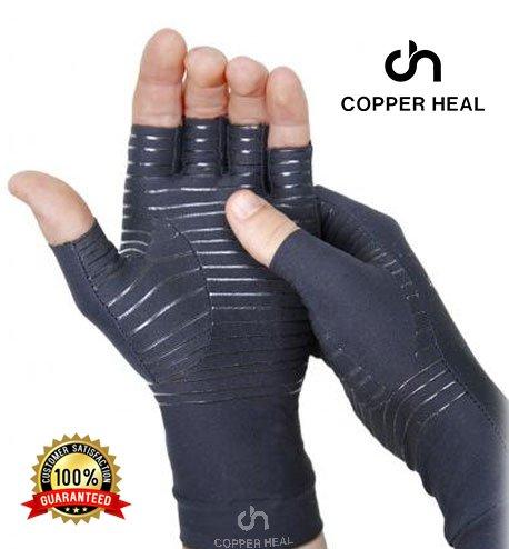 GUANTI compressione COPPER HEAL per la ARTRITE - Best Medical guanti garantisce il funzionamento di rame per artrite reumatoide, tunnel carpale, RSI, osteoartrite & tendinite - Diti apperti