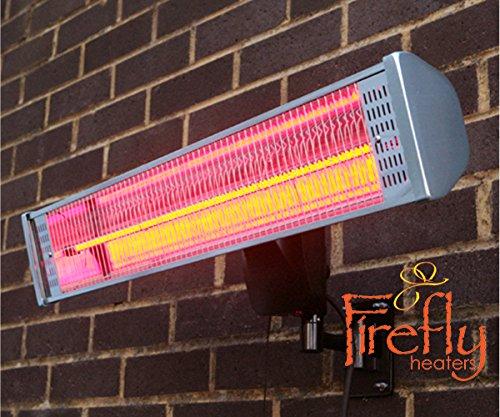 Primrose Firefly 1.800 Watt Infrarot-Heizstrahler (Halogen) Terrassenheizung, Wandmontage, inkl. Fernbedienung