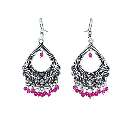 Waama Jewels Elegant Pair Of Transparent Pink Color Pearl Gold Plated Jhumka Dangle & Drop Earring For Party wear Christmas Gift New Year Gift  available at amazon for Rs.179