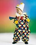 Karneval Kinder Clown Overall Narren Kostüm Größe 98/104