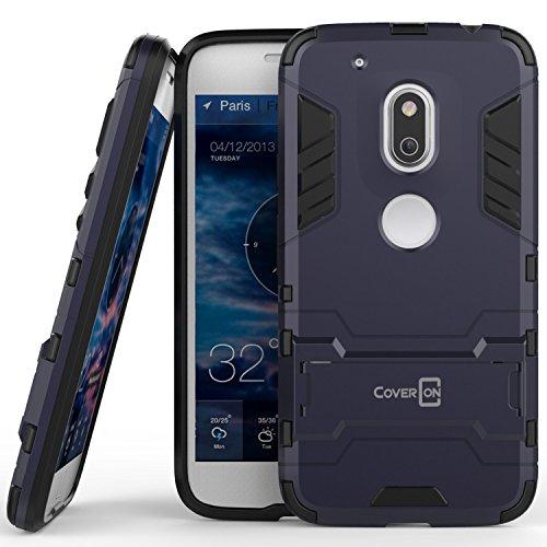 Moto G4Play Schutzhülle, Moto G Play (4. Gen) Fall coveron [Shadow Armor Serie] Hard Slim Hybrid Phone Cover Fall für Motorola Moto G4Play, Marineblau Grau (Moto G Phone Cricket)