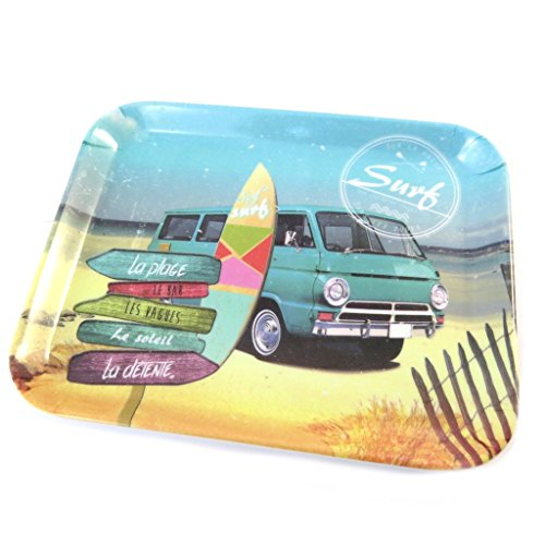 Les Trésors De Lily [P0991 - Petit Plateau 'Esprit Surf' Multicolore - 15x20 cm