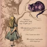 Alice in Wonderland Then it doesnt really Matter Greetings Card 14x14cm
