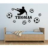 Jugador de Fútbol Chicos Personalizado Nombre Mural Pegatina de Pared