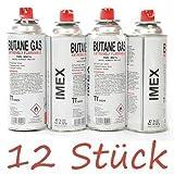 cartouches de gaz IMEX 12 unites pour réchaud butane