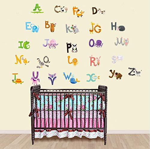 wubaiaiwo Cartoon Tiere Von A Bis Z Englische Buchstaben Wandaufkleber Kinder Babys Zimmer Tapete Poster Früherziehung Wand Applique Kunst