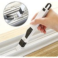Xmssit, spazzola di pulizia rimovibile con paletta, portatile, 2 in 1, multiuso, per scanalature delle finestre, angoli, fessure, tastiere