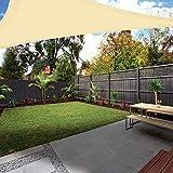 Ankuka Tenda a Vela, Rettangolo Tendalino Vele Parasole da Giardino, Protettiva dal Sole Raggi 98% UV, Resistente ed Elastica, 4x4x4m