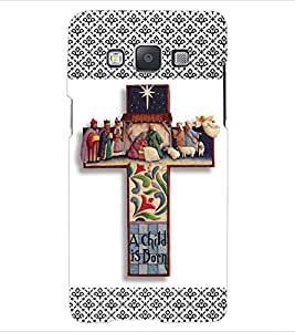 ColourCraft Holy Cross Design Back Case Cover for SAMSUNG GALAXY E5