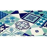Azulejos Stickers Decals–paquetes con 36azulejos, Wall Sticker Tile Kitchen Backsplash Decoration Blue Indigo Decal, FLOOR - 11.9 x 11.9 inches - 30 x 30 cm