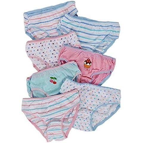 New unidades infantiles de 7 pares 100% tamaño de la funda de algodón para niños braga de costura para ropa interior 2 - 8