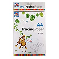 Kids Create A4 Tracing Paper - Pack of 10, Size 297mm x 210mm