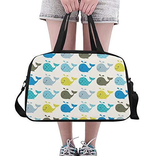 heit Muster große Yoga Gym Totes Fitness Handtaschen Reise Seesäcke Schultergurt Schuhbeutel für Übung Sport Gepäck für Mädchen Männer Womens Outdoor ()