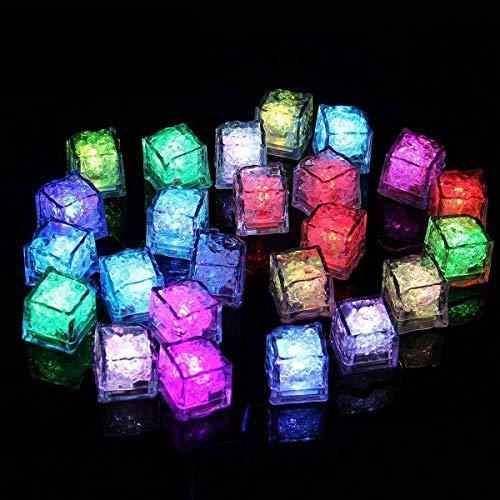 LED Ice Cube-Romote Wein trinken Light LED polychromem Flash Ice Lichter-Dekoration Lights Flüssiger Sensor wechseln Glow Licht für Champagner, Party, Hochzeit, Club und Bar (24PCS) (Trocknen, Eiswürfel In Getränken)