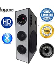 Bayspower 27000W PMPO Heavy Bass DJ Tower Speaker Multimedia Home Theater System with Bluetooth,MIC,AUX,FM,USB,Remote Control,TV and Desktop Computer Support (Model - 522)
