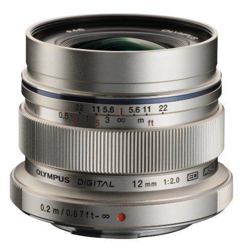 Olympus M. Zuiko Digital ED 12mm f/2.0 Lens for Micro 4/3 Cameras (Silver)