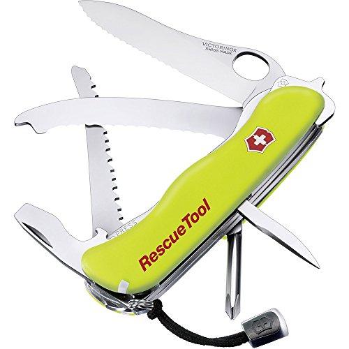 Victorinox Taschenmesser Rescue Tool (15 Funktionen, Frontscheibensäge, Scheibenzertrümmerer) gelb...