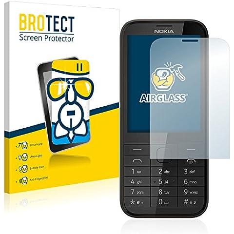 BROTECT AirGlass Protector Pantalla Cristal Flexible para Nokia 225 Protector Cristal Vidrio - Extra-Duro, Ultra-Ligero