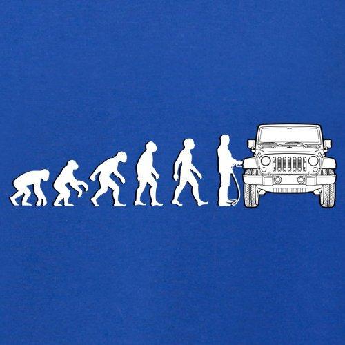 Evolution of Man - Jeep Fahrer - Herren T-Shirt - 13 Farben Royalblau