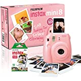 Fujifilm - Instax Mini 8 - Appareil Photo Instantané - Avec 10 Poses - Rose