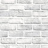 Cinnamou Mode Sticker Muraux Autocollant Mural Autoadhésif De L'Effet Rustique 3D De Blanc Pierre De Brique Décor à La Maison Sticker Mural