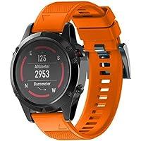 Zolimx Correa de reloj correa de banda de kit de lanzamiento rápido para Garmin Fenix 5X GPS Watch (Naranja)