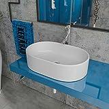 Design Keramik Waschbecken Waschtisch Waschschale Aufsatzwaschbecken Aufsatzwaschtisch Gäste WC Becken KBW105 BxTxH: 60x43x16cm