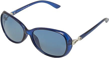 Vast Polarized Oval Women Sunglasses (1731_C18_BLUE)