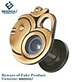 #2: MADHULI Ultra clear 180 Degree Door Eye/Viewer (Antique Brass Finish) Om With Ganesha Model for Safe and Secure Home
