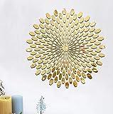 Acryl Sonnenblume, Sonne Spiegel, Wand und Wohnen R