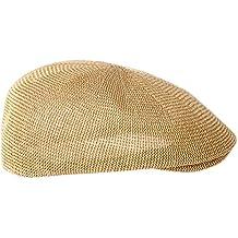 TININNA Hombre Sombrero de Paja gancho, sombrero de sol, gorra de playa de verano gorro, sombrero de pesca visera Capeline, caqui, 58 cm