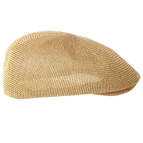 TININNA Mujer Hombres Sombrero Boina Gorra Paja Gancho