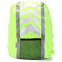 AYKRM Hiv Vis reflektierende Rucksack Rucksack Cover Rucksacküberzug Regenschutz- und Sicherheitshülle für Schulranzen und Rucksäcke