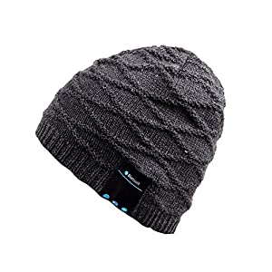 Bluetooth Beanie,Qshell Music Hat with Wireless Bluetooth Headphone Headset Earphone Stereo Speaker Mic Hands free,Best Birthday Christmas Gift for Mens Womens Winter Outdoor Skiing Snowboard Hiking