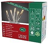 Konstsmide 6353-823 Micro LED Lichterkette/für Innen (IP20) / VDE geprüft / 24V Innentrafo / 50 bernsteinfarbene Dioden/transparentes Kabel